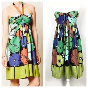Anthropologie James Coviello Pavot Strapless Dress